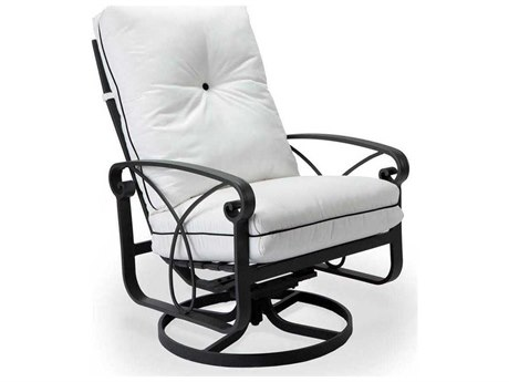 Winston Palazzo Cushion Cast Aluminum Arm Ultra Swivel Tilt Lounge Chair PatioLiving