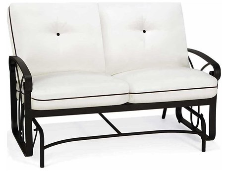 Winston Palazzo Cushion Cast Aluminum Arm Loveseat Glider