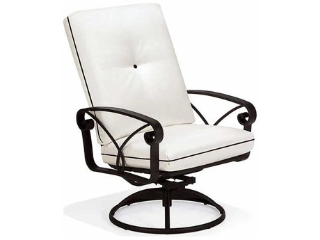 Winston Palazzo Cushion Cast Aluminum Arm Swivel Dining Chair