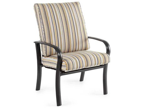 Winston Savoy Cushion Aluminum High Back Arm Dining Chair