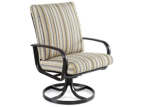 Winston Savoy Cushion Aluminum High Back Swivel Tilt Dining Chair