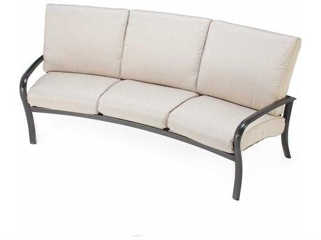 Winston Savoy Cushion Aluminum Crescent Sofa