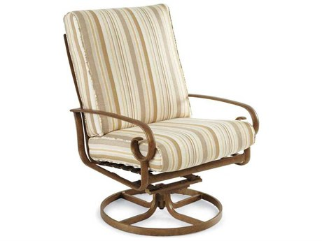 Winston Veneto Cushion Cast Aluminum Ultra Swivel Tilt Arm Lounge Chair
