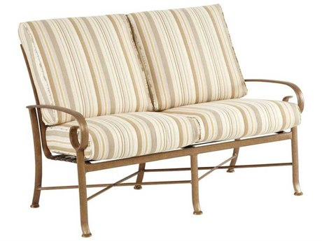 Winston Veneto Cushion Cast Aluminum Loveseat Glider