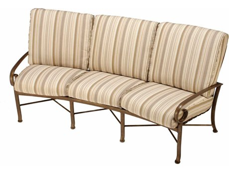 Winston Veneto Cushion Cast Aluminum Crescent Sofa