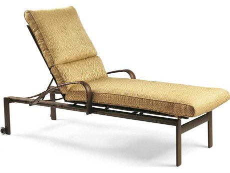 Winston Belvedere Cushion Aluminum Chaise Lounge with Wheels