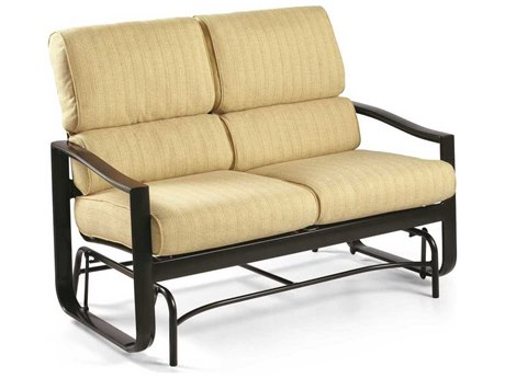 Winston Belvedere Cushion Aluminum Loveseat Glider