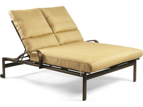 Winston Belvedere Cushion Aluminum Double Chaise Lounge