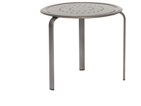 Winston Southern Cay Modular Aluminum 22'' Round Occasional Table - Fully Welded & Nesting PatioLiving
