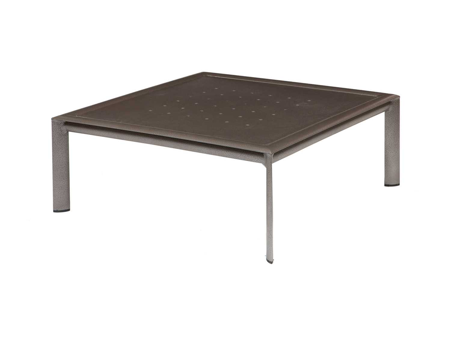 Winston Southern Cay Modular Aluminum 35 39 39 Square Coffee Table Fully Welded Wsm35007