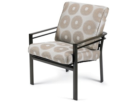 Winston Southern Cay Cushion Aluminum High Back Arm Dining Chair