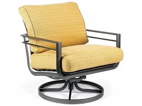 Winston Southern Cay Cushion Aluminum Arm Swivel Lounge Chair
