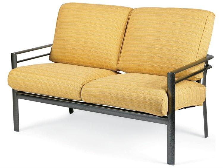 Winston Southern Cay Sling Aluminum Armless Chaise Lounge: Winston Southern Cay Cushion Aluminum Arm Loveseat