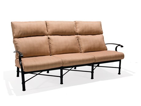 Winston Manor Deep Seating Cast Aluminum Cushion Ultra High Back Sofa