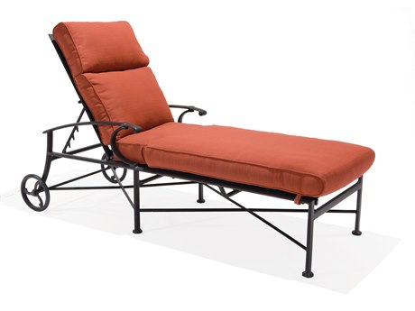Winston Manor Deep Seating Cast Aluminum Cushion Arm Chaise Lounge