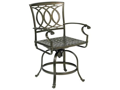 Winston Marseille Cast Aluminum Counter Height Swivel Stool