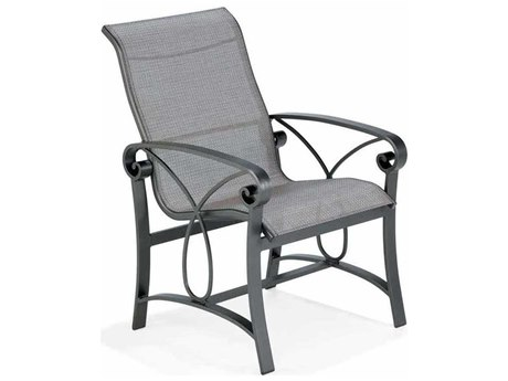 Winston Palazzo Sling Cast Aluminum High Back Dining Chair PatioLiving