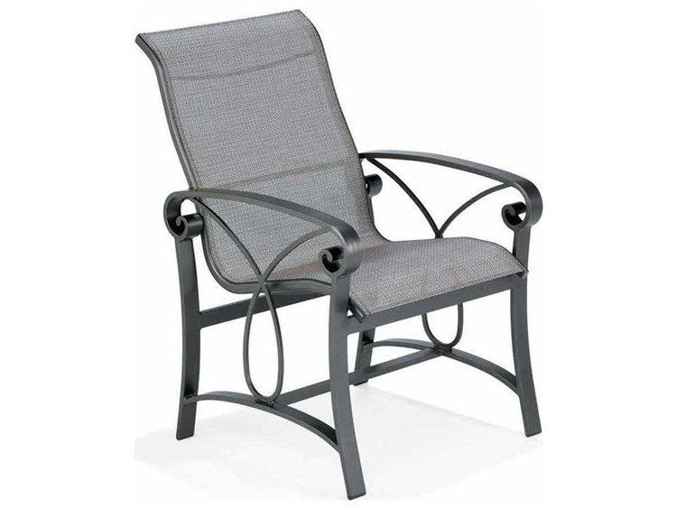 Winston Palazzo Sling Cast Aluminum Arm Chaise Lounge: Winston Palazzo Sling Cast Aluminum High Back Dining Chair