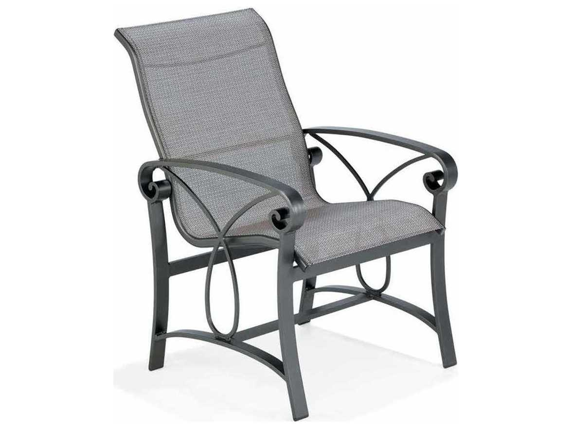 Winston Palazzo Sling Cast Aluminum High Back Dining Chair