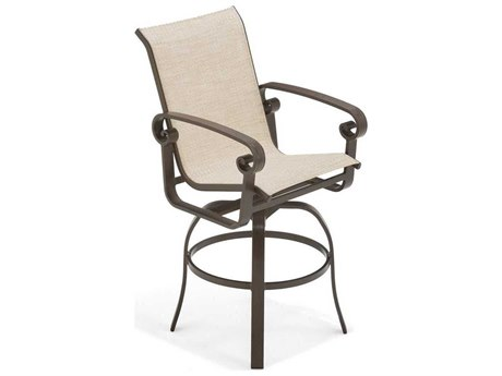 Winston Palazzo Sling Cast Aluminum Swivel Bar Stool