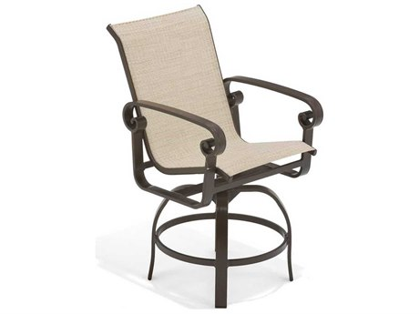 Winston Palazzo Sling Cast Aluminum Swivel Balcony Height Stool