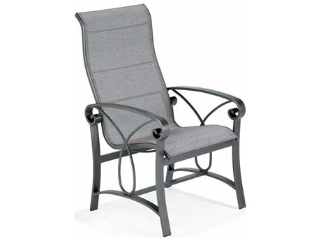 Winston Palazzo Sling Cast Aluminum Ultimate High Back Dining Chair PatioLiving