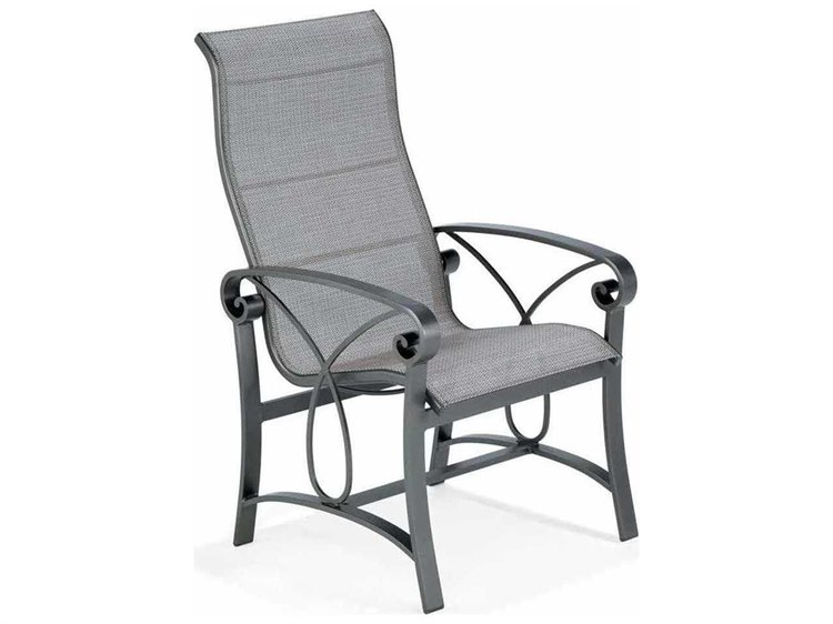 Winston Palazzo Sling Cast Aluminum Ultimate High Back Dining Chair M4341