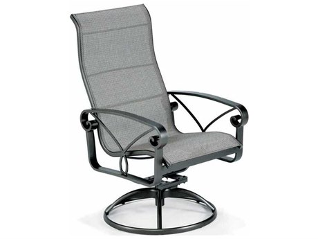 Winston Palazzo Sling Cast Aluminum Arm Ultimate High Back Swivel Tilt Dining Chair PatioLiving