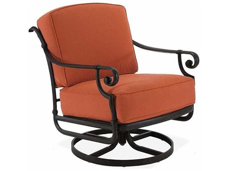 Winston Legacy Deep Seating Cast Aluminum Cushion Swivel Rocker Lounge Arm Chair