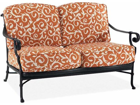 Winston Legacy Deep Seating Cast Aluminum Cushion Arm Loveseat