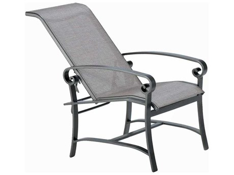 Winston Palazzo Sling Cast Aluminum Arm Adjustable Lounge Chair