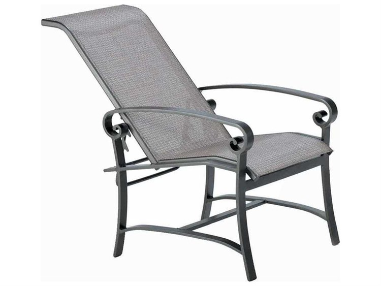 Winston Palazzo Sling Cast Aluminum Arm Adjustable Lounge