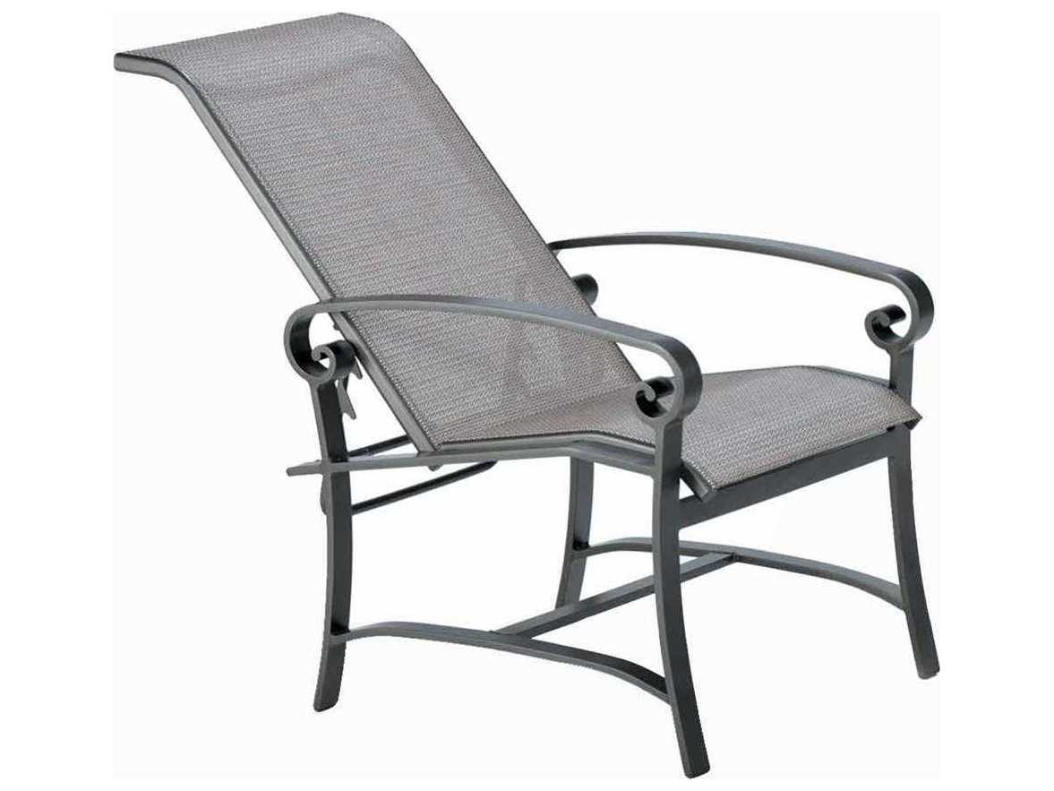 Winston Palazzo Sling Cast Aluminum Arm Adjustable Lounge