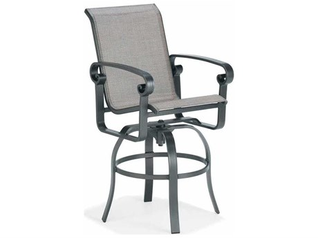 Winston Palazzo Sling Cast Aluminum Arm Swivel Bar Stool
