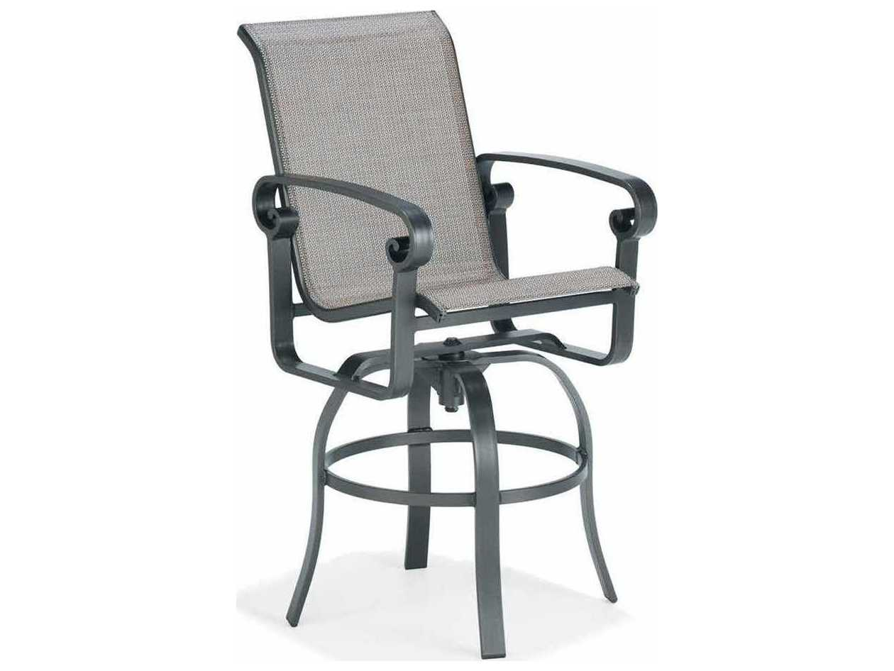 Winston Palazzo Sling Cast Aluminum Arm Chaise Lounge: Winston Palazzo Sling Cast Aluminum Arm Swivel Bar Stool