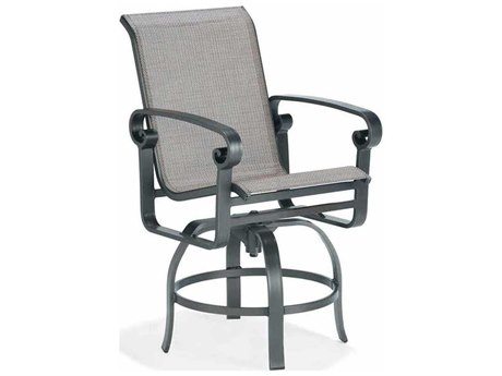 Winston Palazzo Sling Cast Aluminum Arm Swivel Balcony Height Stool