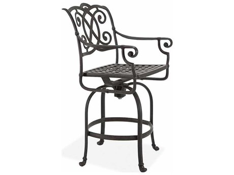 Winston Volterra Cast Aluminum Swivel Bar Stool