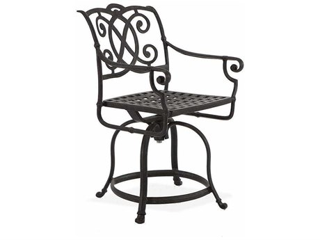 Winston Volterra Cast Aluminum Balcony Height Swivel Stool