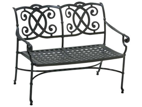 Winston Volterra Cast Auminum Bench with Cast Seat & Back