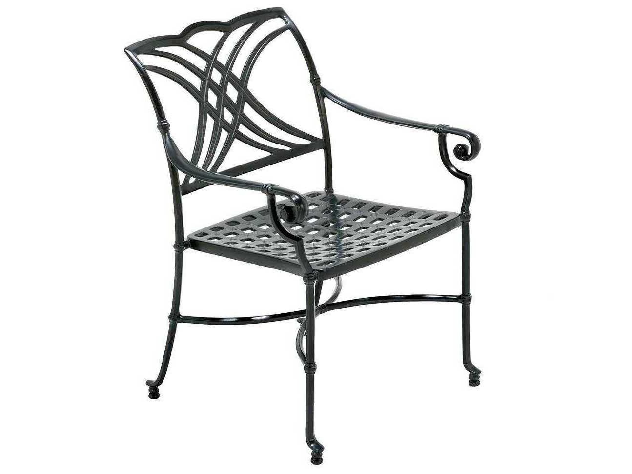Winston Coronado Cast Aluminum Metal Arm Dining Chair