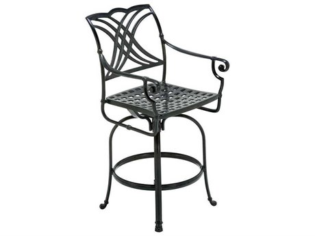 Winston Coronado Cast Aluminum Metal Arm Swivel Bar Stool