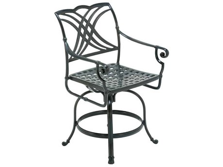 Winston Coronado Cast Aluminum Metal Arm Swivel Counter Stool