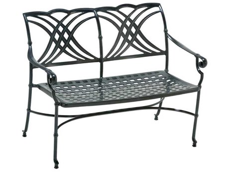 Winston Coronado Cast Aluminum Metal Arm Bench