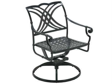 Winston Coronado Cast Aluminum Metal Swivel Tilt Arm Dining Chair