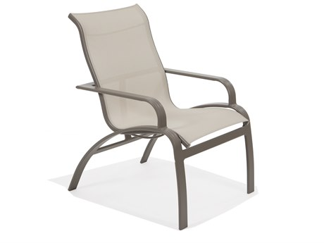 Winston Evolution Sling Aluminum High Back Arm Dining Chair