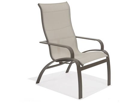 Winston Evolution Sling Aluminum Ultimate High Back Arm Dining Chair
