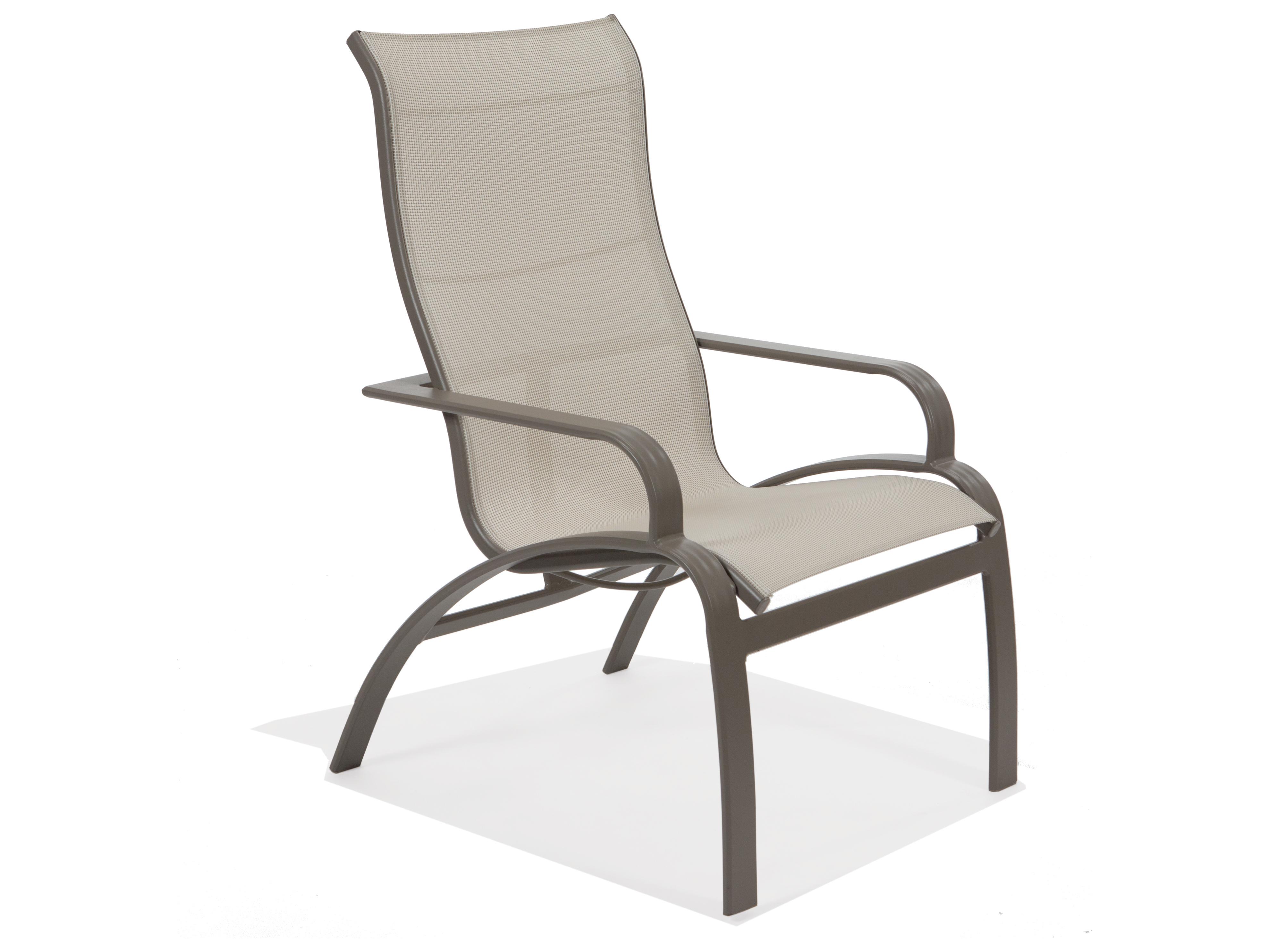Winston Southern Cay Sling Aluminum Armless Chaise Lounge: Winston Evolution Sling Aluminum Ultimate High Back Arm