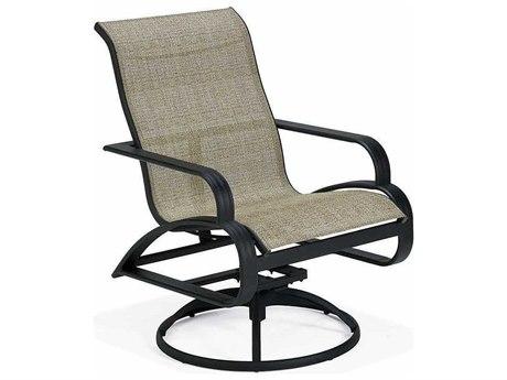 Winston Evolution Sling Aluminum High Back Swivel Tilt Arm Dining Chair