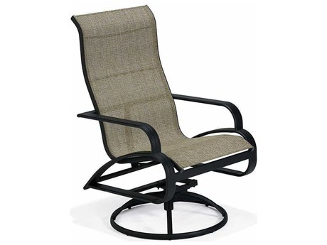 Winston Evolution Sling Aluminum Ultimate High Back Swivel Tilt Dining Arm Chair