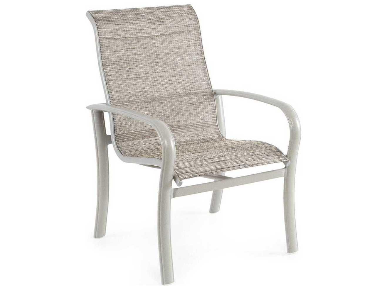 Winston Savoy Sling Aluminum High Back Arm Dining Chair ...